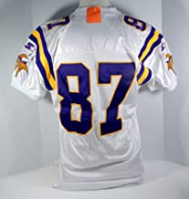 1997 Minnesota Vikings Hunter Goodwin #87 Game Issued White Jersey VIKSNC00189 - Unsigned NFL Game Used Jerseys