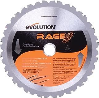 Evolution Power Tools RAGEBLADE 7-1/4-Inch Multipurpose Cutting Blade for Steel, Aluminum, Wood and Plastics