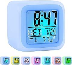 ZALIK Alarm Clock Kids Wake Up Easy Setting Digital Travel for Boys Girls, Large Display Time/Date/Alarm with Snooze, Bedside Clock Handheld Sized, LED Night Light Clock - Best Gift for Kids