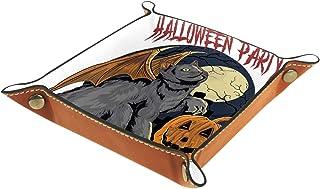 Plateau à bijoux halloween dia de muertos Plateau de rangement pour bijoux en cuir Petite boîte de rangement Organisateur ...