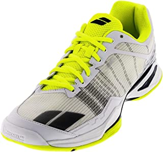 Babolat Mens jet team all court tennis shoe, White/Yellow