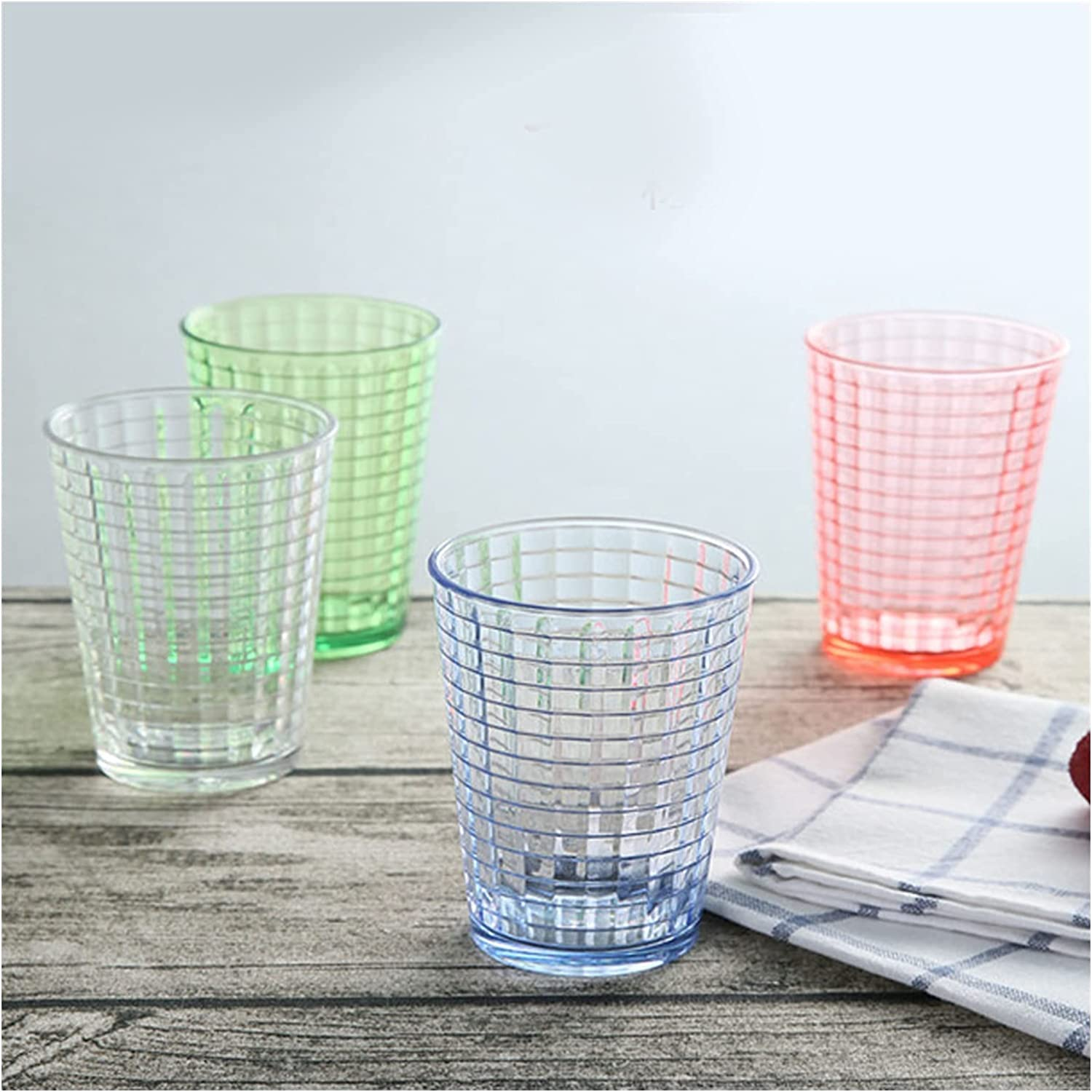 Mugs 4pcs 150ml half Plastic List price Cup Drink Stackable Gla Glasses Drinking