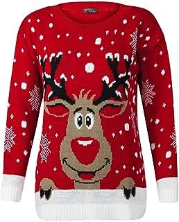 STAR FASHION Suéter de Navidad de Punto Jersey de Navidad Unisex para Mujer/Hombre
