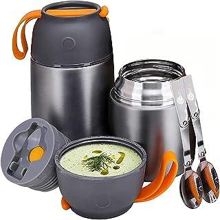 YGJT Boîtes Alimentaires Isothermes Lot de 2 500ml+ 700ml Récipient Alimentaire isolé Boîte à Lunch Thermos pour Enfants/A...