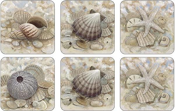 Pimpernel Set Of 6 Beach Prize Coasters