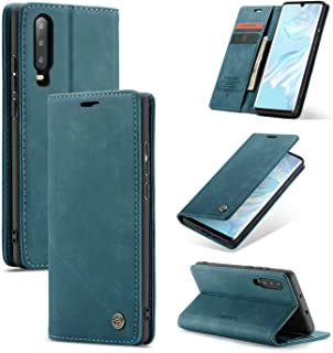 CaseMe Huawei P30 Case & Cover Leather case, Wallet Case & Card Slots, Auto Closing Magnetic Flip and Fold Case for Huawei...