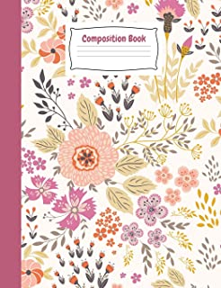 Floral Bloom Primary Journal Story Composition Book: Flower Kindergarten to Year 2 Draw and Write Creative Writing Noteboo...
