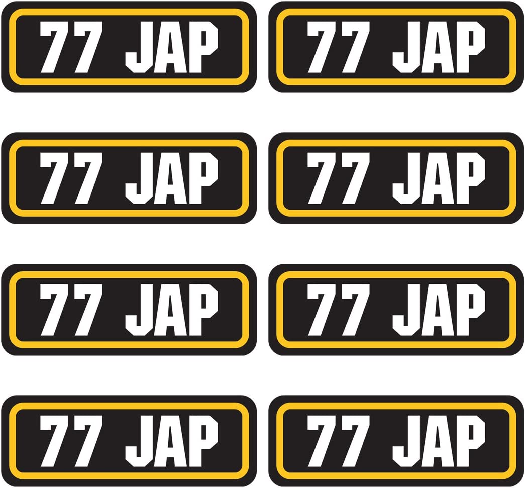 AZ House of Graphics 77 JAP Ammo Stickers 8 Pack