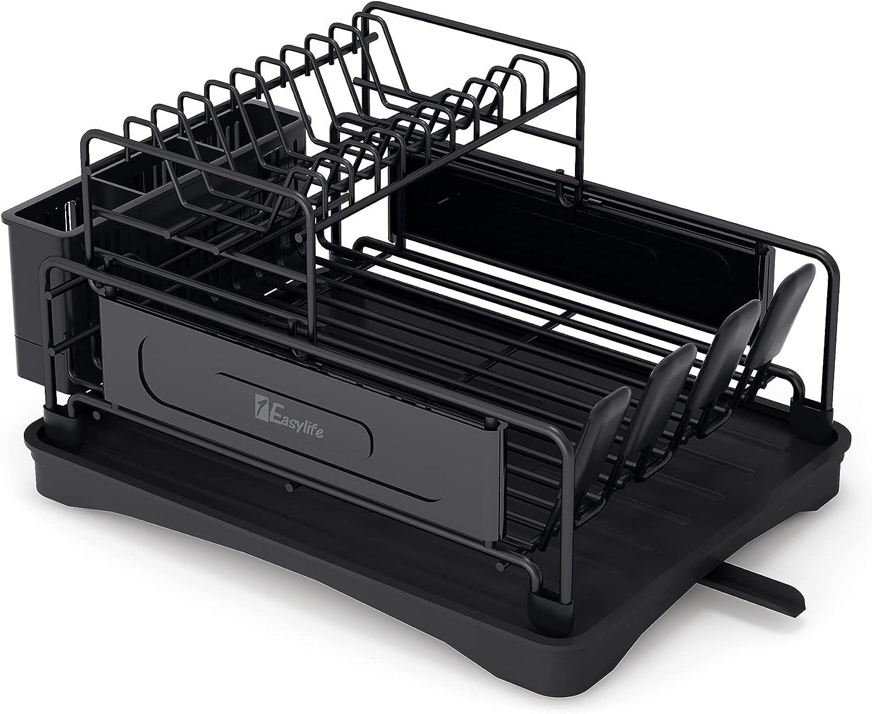 Sacramento Mall Dish Drying Rare Rack 1Easylife Dra Kitchen 2-Tier Compact