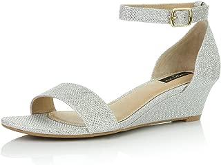 Women's Wedge Open Toe Strap Chunky Heel Sandal Fashion Shoes