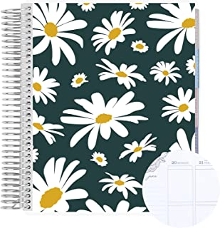 """$66 » 18 Month 7"""" x 9"""" Spiral Coiled Vertical Weekly Life Planner/Agenda (July 2021 - December 2022). Dancing Daisies Flexible C..."""