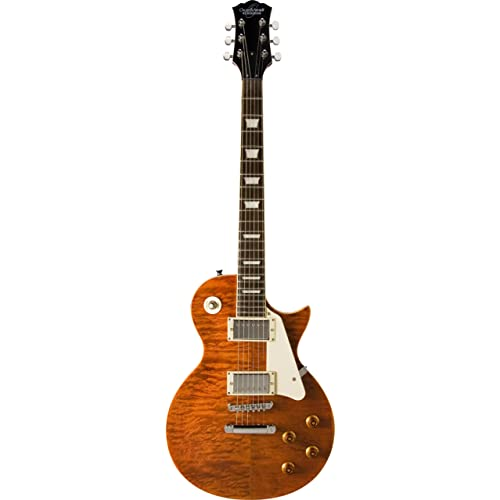 Amazon.com: Oscar Schmidt OE20QTE 6-String Solid-Body Electric Guitar, Quilt Tiger Eye: Musical Instruments