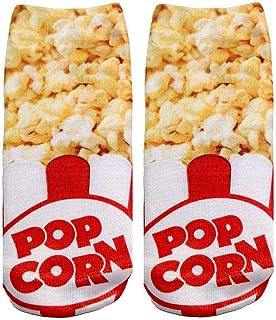 Popcorn Photo Print Ankle Socks