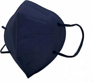 SALO MED 20x Masken FFP2 Blau - CE zertifiziert - Einzeln verpackt in Beuteln - Schützend 5-Lagen-Maske - BFE 99% Filterun...