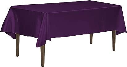 LinenTablecloth 126 Inch Rectangular Tablecloth Eggplant