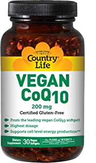 Country Life Vegan CoQ10 200 mg Softgels 30's
