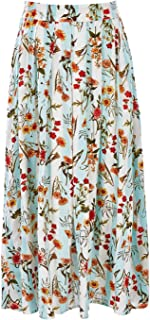 Boho Bird Womens Long Skirts Sunny Afternoon Adventure Skirt Fleurstrip