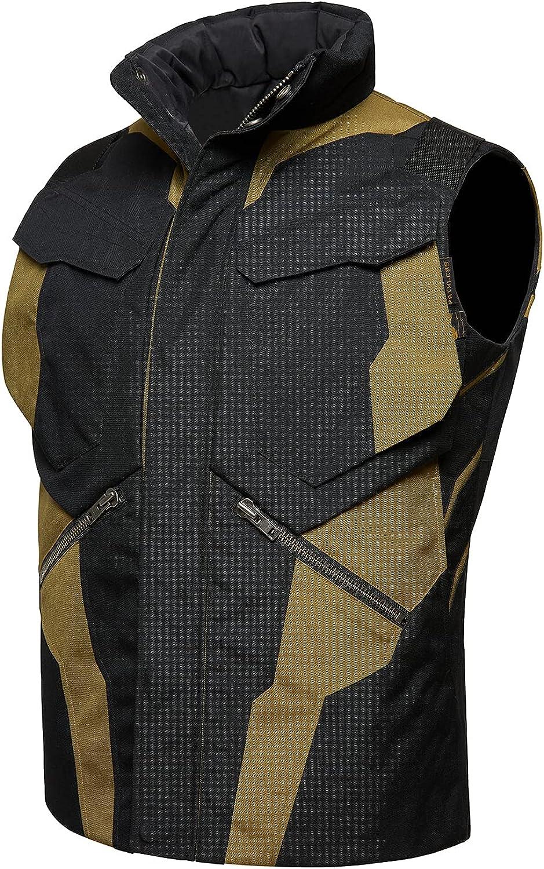 PATHLESS VS-I Men's CORDURA Survival Protection Tactical Down Vest Black
