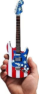 Mini Guitar Wayne Kramer Collectible Stars N' Stripes Flag Fender Strat Guitar Replica