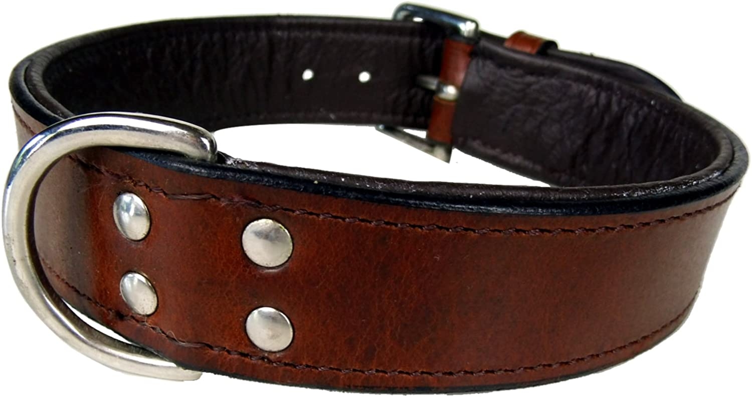 Leather Dog Collar Classic Brown