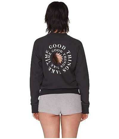 Spiritual Gangster Classic Crew Sweatshirt (Good Things Vintage Black) Women