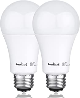 AmeriLuck 5000K Daylight 3-Way LED Light Bulb A19, 40-60-100W Equivalent, Omni-Directional, UL Listed (2 Pack)