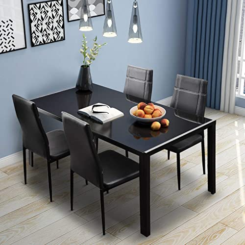 Modern Dining Table Set For 4 Amazon Com