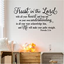 Trust in the Lord With All Your Heart..Proverbs 3:5-6 Vinyl Lettering Wall Decal Sticker (21