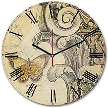 Home Art 238hma6160 Decorative Mdf Clock, Multi Color