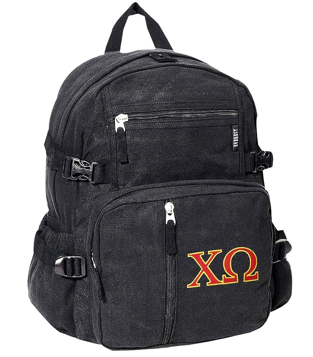 コスチューム家幸福Chi OmegaバックパックキャンバスChi O Sorority学校や旅行バッグ