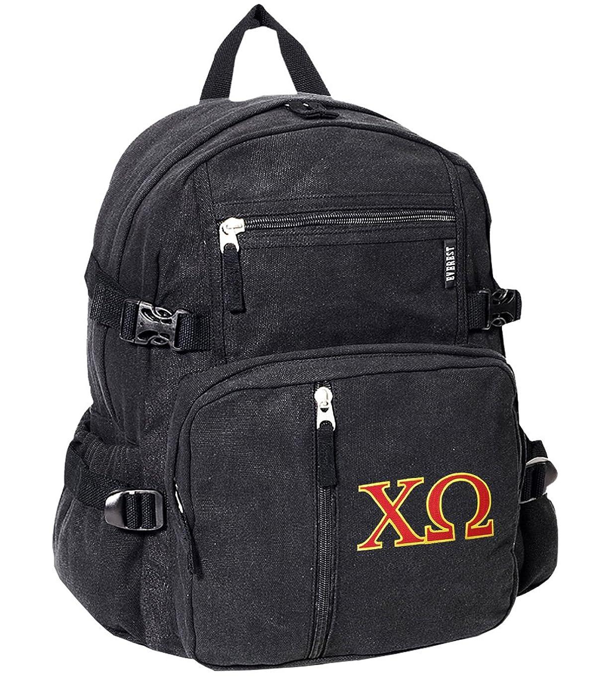 傾向会計キャビンChi OmegaバックパックキャンバスChi O Sorority学校や旅行バッグ