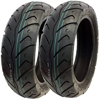 MMG Tire Set Front Tire 120/70-12 Rear Tire 130/70-12 Street Tread, Compatible with on Piaggio MP3, Vespa GT GTS GTV Series and others