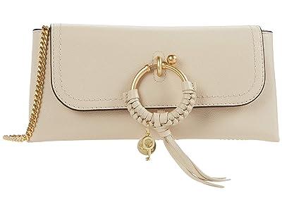 See by Chloe Joan Clutch (Cement Beige) Handbags