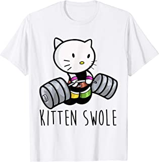 Kitten Swole Cat Powerlifting Weightlifting Gym T-Shirt