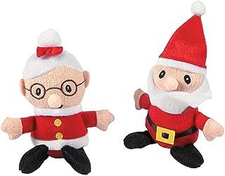 Fun Express - Santa and Mrs. Claus Plush for Christmas - Toys - Plush - Stuffed Non Animal - Christmas - 12 Pieces