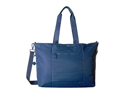 Hedgren Swing Large Tote with RFID (Navy Peony) Tote Handbags