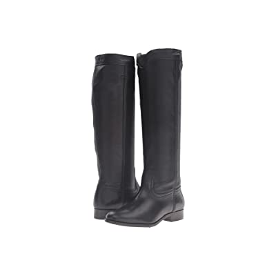 Frye Cara Roper Tall (Black Soft Pebbled Full Grain) Women