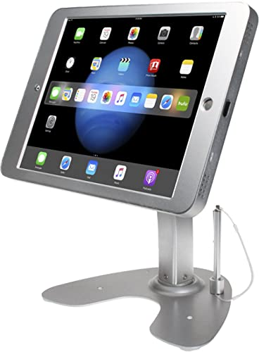 CTA Digital: Anti-Theft Security Kiosk Stand for iPad Pro 12.9 (Gen. 1 and 2), Silver
