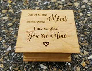gift for Mom, Engraved music box for Mom with your choice of color and song, perfect gift for Mom