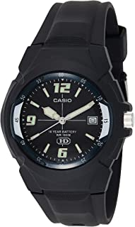 Casio Enticer Men's Black Dial Resin Band Watch - MW-600F-1AVDF