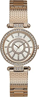 Guess Womens Quartz Watch, Analog Display and Stainless Steel Strap