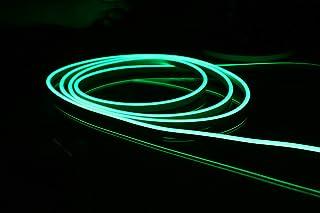 YXH DC 12V silicona LED luz de neón de la cuerda, impermeable para la decoración interior y al aire libre Letrero de DIY, 16.4FT verde