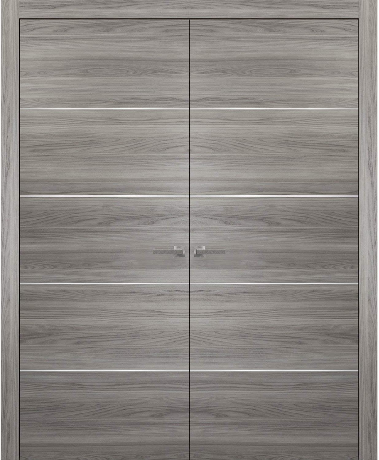 2021 Grey Modern French Doors 72 Brand Cheap Sale Venue x Planum with 80 Gin Moldings 0020
