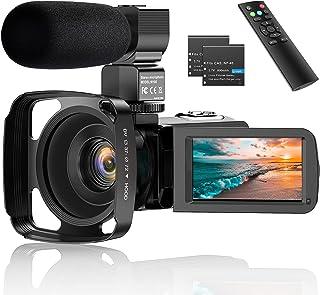 """Caméscope, Caméra Vidéo 2.7K UHD 36MP IR Vision Nocturne Caméscope Numérique, WiFi Caméra Vidéo 3.0"""" LCD à écran Tactile 1..."""