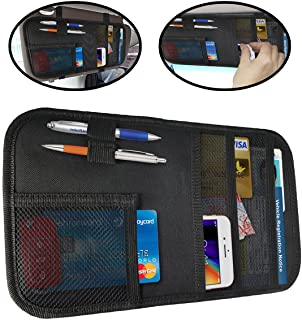 Lebogner Car Sun Visor Organizer, Auto Interior Accessories Pocket Organizer, Registration And Document Holder, Personal B...