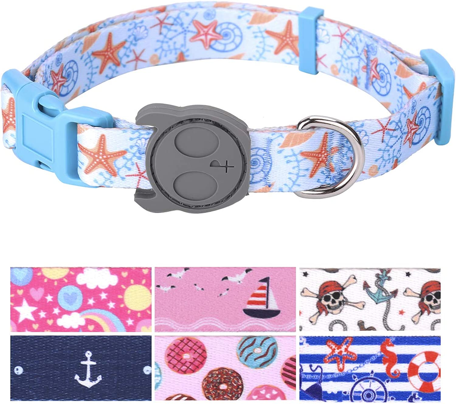 PetANTastic Best Adjustable Large Dog Collar Durable Soft & Heavy Duty with Cool Summer Beach Design, Outdoor & Indoor use Comfort Dog Collar for Girls, Boys, Puppy, Adults