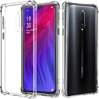 for Oppo Reno Z Case, Air Cushion Shockproof Clear Gel Heavy Duty Tough Anti Knock Protective Cover