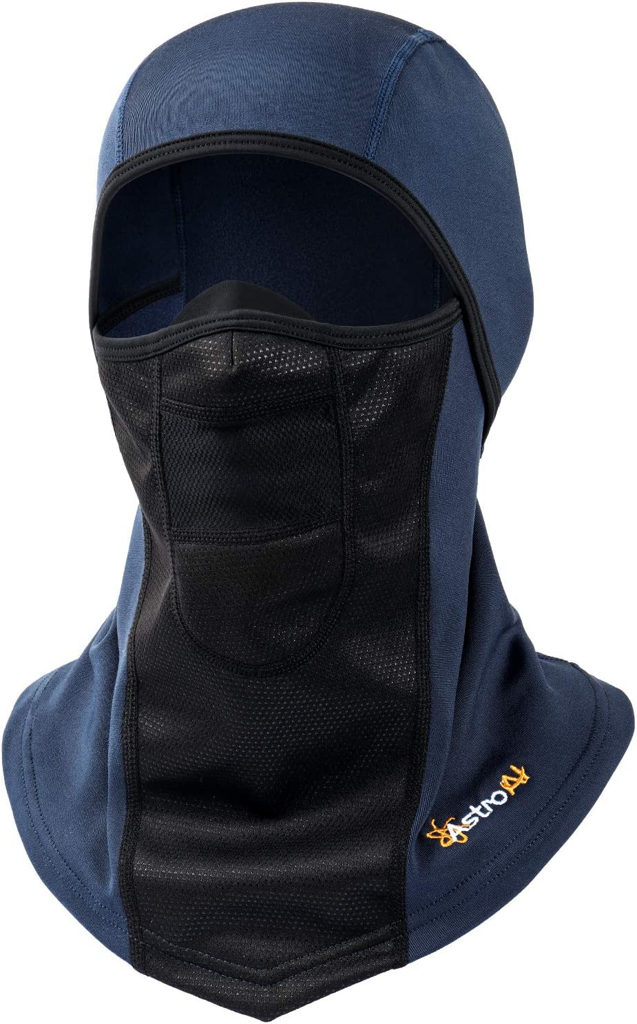 AstroAI Ski Mask Windproof Balaclava for Cold Weather, Winter Face Mask Breathable Stretchable for Skiing, Snowboarding & Motorcycle Riding, Full Protection Mask for Men/Women Navy Blue