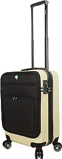 Mia Toro Italy Lumina Hardside Spinner Luggage Carry-on, Cream