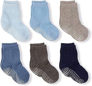 LA Active Chaussettes Antidérapantes Sport Coton - 6 paires - Bébé tout-petit nourrisson nouveau-né enfant garçon fille (G...